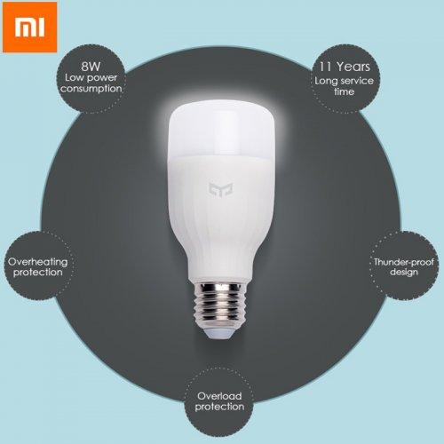 Original Xiaomi Yeelight E27 Smart LED Bulb  -  WHITE £10.45 @ gearbest