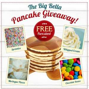Free pancakes, Bella Italia, Tuesday 9th Feb (first 50 ppl per store)