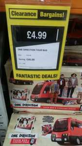 One Direction Tour Bus £4.99 Argos Clearance Stanley