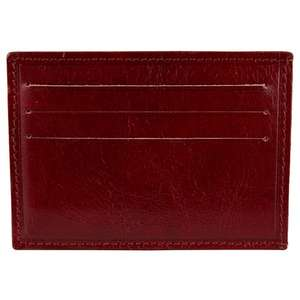 John Lewis Made In Italy Leather Card Holder & Money Clip, Red £10.50