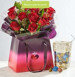 12 red roses and free chocolates and delivery - Valentines Day £25 @ Marks & Spencers