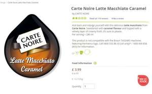 Carte Noire Latte Macchiato Caramel £3.99 @ Tassimo