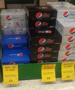 30 cans of Pepsi, Pepsi max or diet Pepsi for £5 Morrisons