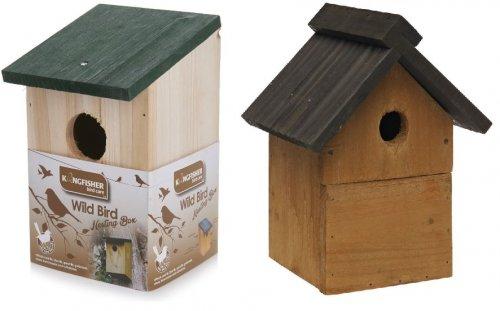 Wooden Bird House £1.50 or Wild Bird Nesting Box £2.50 at Wilko