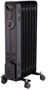 PRO ELEC Black 1.5kW Floor Standing Oil Filled Black Radiator With 7 Elements, £20.64 @ CPC Farnell