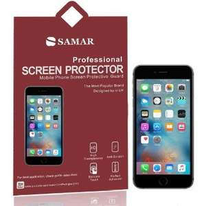 Amazon - SAMAR iPhone 6 Plus / iPhone 6S Plus Crystal Clear or Matte Anti Glare Screen Protectors, 6 in Pack [5.5-inch Screen Display] for £2.48 Dispatched from and sold by Wave the Products / Amazon