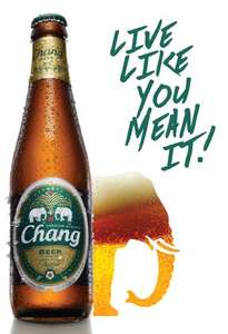 Chang 330ml beer 89p each at Lidl