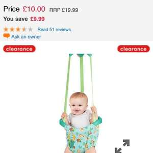 bright starts door bouncer at Mothercare for £10