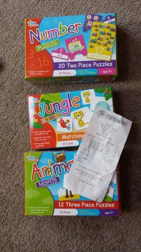Childrens Puzzle cards - snap, pairs, etc - 69p @ 99p Stores