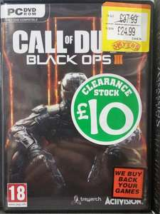 Call of Duty Black Ops 3 PC (Physical) £10 @ Smyths