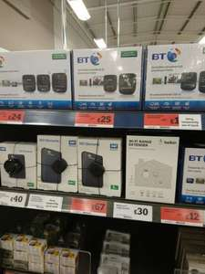 BT WiFi extenders  reduced £25.99 in store at sainsburys..