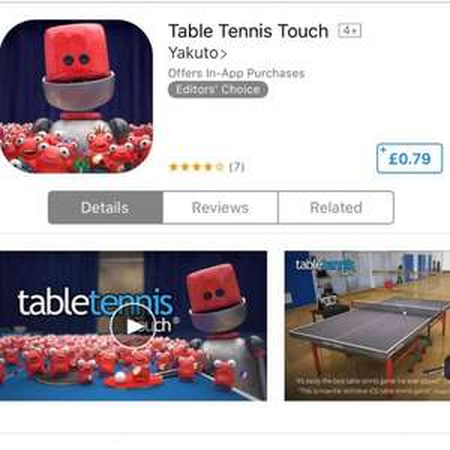 Table Tennis touch iOS 79p