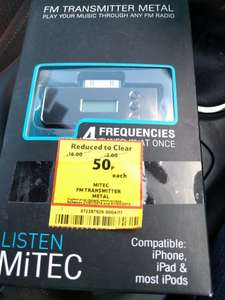 MiTec FM transmitter for apple devices 50p at Tesco Lowestoft