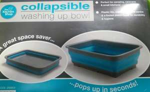 Collapsible Washing Up Bowl Camping Caravan Kitchen - £3.99 @ B&M