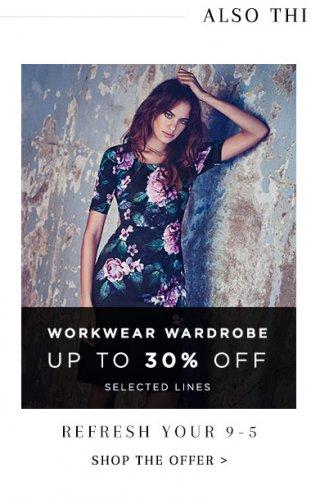 30% OFF Workwear @ Monsoon