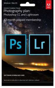 Adobe CC Photoshop and Lightroom - 12-Month Licence. £79.99 @ Amazon