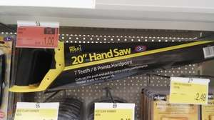 "20"" Saw for £1 in store only @ B&M - Loughborough"