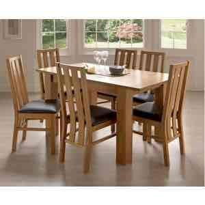 homebase oakleigh dining table with 6 chairs £89.93 @ Homebase