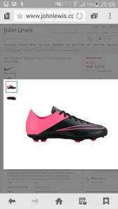 Buy Nike Children's Mercurial Victory V FG Football Boots, Black/Pink | £20 @ John Lewis (del £3.50 , c&c £2)