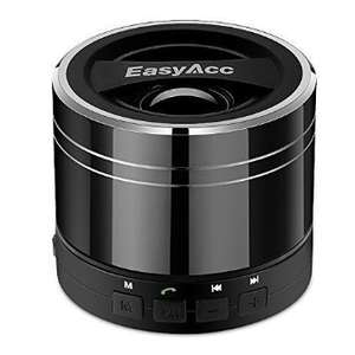 EasyAcc Mini Portable Rechargeable Bluetooth Speaker with Microphone for Tablet/Laptops - Titanium Black £10.95 prime / £14.94 non prime @ Amazon