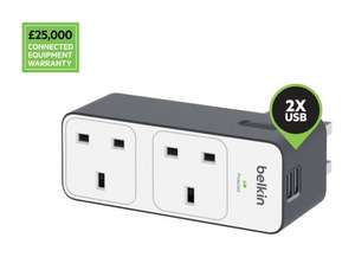 Belkin 2 Way Multi Plug Travel Surge with 2 x 2.4 A USB Sockets £12.34 @ Amazon (£16.33 non prime)