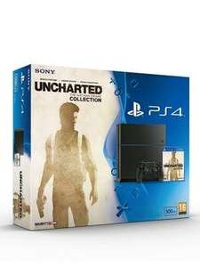 Playstation 4 500Gb Console with Uncharted: The Nathan Drake Collection and Optional Dualshock Controller and/or 12 Months Playstation Plus - £289.99 @ Very
