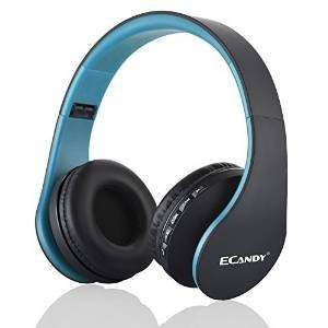 Ecandy Bluetooth Wireless Over-ear Stereo Headphones - £15.99 Sold by Ecandy-UK and Fulfilled by Amazon
