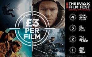 IMAX Film Fest 27th February All films £3 @ Cineworld