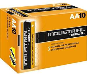 Duracell Industrial - Battery 10 x AA Alkaline £2.88 Delivered and sold by Simply Direct ltd / Amazon