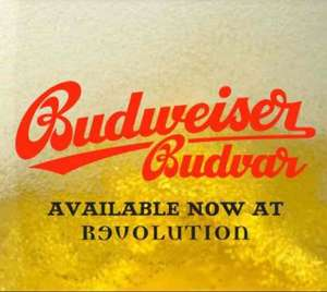Free schooner of Budweiser Budvar at Revolution