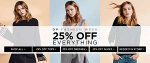 Dorothy Perkins 25% off everything + £10 off a £40 spend