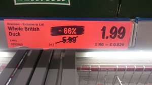 Duck Me!!!! Whole Duck £1.99 at Lidl