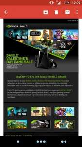 up to 67% off nvidea shield games valentines day sale (some Free!)