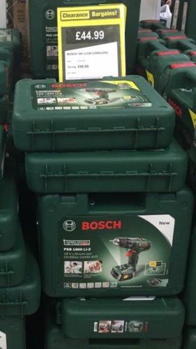 Bosch PSB LI -2 1800 Cordless Hammer Drill Driver - 18V £44.99 @ Clearence Bargins Stanley (Argos)