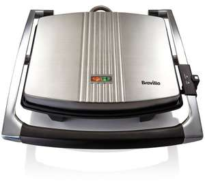 Under £30! Breville VST026 4 Slice Sandwich Press Stainless Steel - Amazon DOTD £29.99 - Quality Model with Hinged Lid