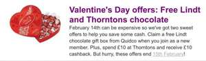 Free chocolate! Free box of Lindt or Thorntons + Quidco (new members only)