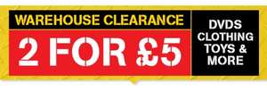 BBC Shop - Warehouse Clearance - 2 for £5