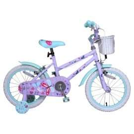 "Girls 16"" butterfly bike with stabilisers £22.50 (£2 c&c) at Tesco"