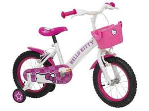 "Hello Kitty 12"" Kids' Bike with Stabilisers £21.25 at Tesco Direct (£2 c&c)"