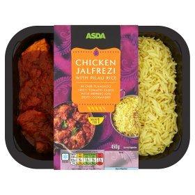 ASDA Varieties of Curries with Pilau Rice £1.50. Nationwide