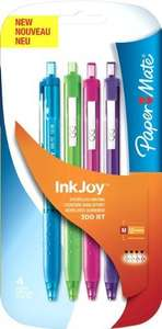 ** Paper Mate Inkjoy 300 RT Retractable Ball Pen Medium Tip 1.0mm - Assorted Fun Colours (Pack of 4) just 85p @ Tesco (In-Store) **
