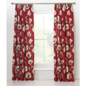Elissia Poppy Unlined Pencil Pleat Curtains From £2.99 @ Argos