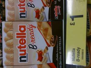 Nutella B-Ready wafer bars 8 pack (152.8g) £1.00 @ Farmfoods