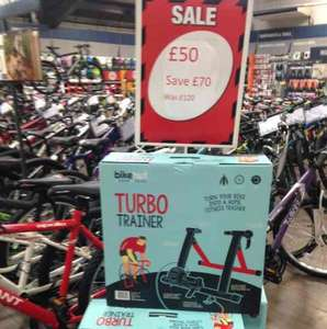 Bikehut Turbo Trainer Reduced From £120 now £50 @ Halfords York