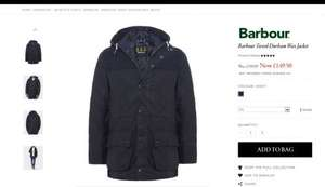 Sale of Jackets 50% off Barbour, Armani etc @ julesb