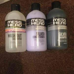 mess head 300ml shampoo, conditioner & wash out shampoo great for blondes! £1 @ Poundland in store