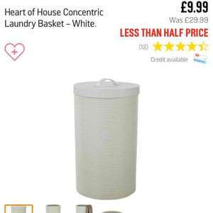 Heart of House Concentric Laundry Basket - White £9.99 from Argos