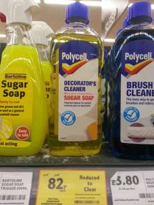 Polycell Decorator's Cleaner made with Sugar Soap Was £4.45 NOW £0.82 @ TESCO