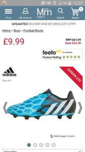 Buy adidas Boys Predito Instinct FG Football Boots Solar Blue/White/Black AD11597 at MandM Direct £9.99 + £4.99 Delivery