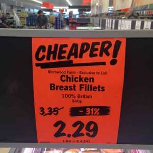 31% off 540g fresh Chicken Breast, £2.29 @ Lidl / £4.24 per kilo